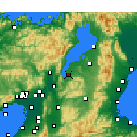 Nearby Forecast Locations - Kusatsu - Map