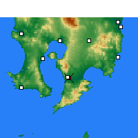 Nearby Forecast Locations - Kanoya - Map