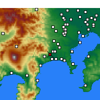 Nearby Forecast Locations - Isehara - Map