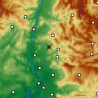 Nearby Forecast Locations - Valréas - Map