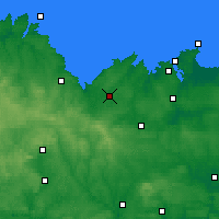 Nearby Forecast Locations - Lamballe - Map