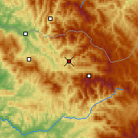 Nearby Forecast Locations - Vişeu de Sus - Map