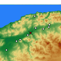 Nearby Forecast Locations - Oued Sly - Map