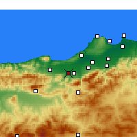 Nearby Forecast Locations - El Affroun - Map