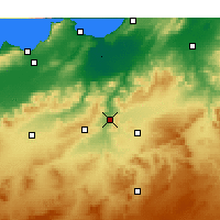 Nearby Forecast Locations - Bou Hanifia - Map