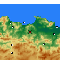 Nearby Forecast Locations - Azzaba - Map