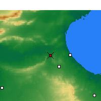 Nearby Forecast Locations - El Hamma - Map