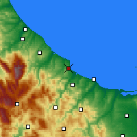 Nearby Forecast Locations - Vasto - Map