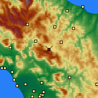 Nearby Forecast Locations - Bojano - Map