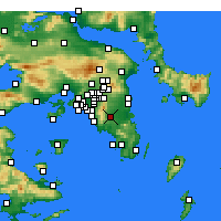 Nearby Forecast Locations - Kropia - Map