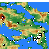 Nearby Forecast Locations - Thebes - Map