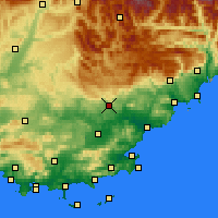 Nearby Forecast Locations - Draguignan - Map