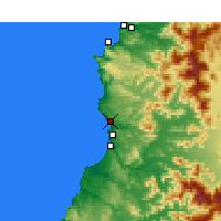 Nearby Forecast Locations - Valparaíso - Map