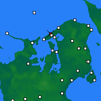 Nearby Forecast Locations - Liseleje - Map