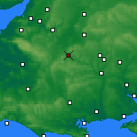 Nearby Forecast Locations - Warminster - Map
