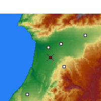 Nearby Forecast Locations - Biougra - Map