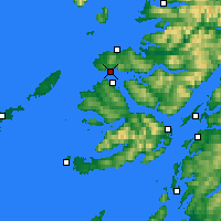 Nearby Forecast Locations - Kilchoan - Map