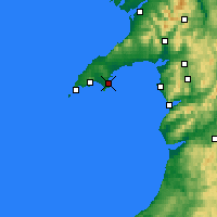 Nearby Forecast Locations - Abersoch - Map