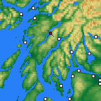 Nearby Forecast Locations - Loch Awe - Map