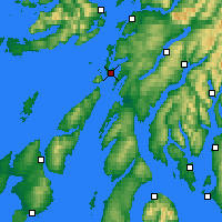 Nearby Forecast Locations - Loch Fyne - Map