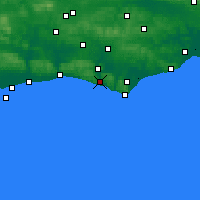 Nearby Forecast Locations - Newhaven - Map
