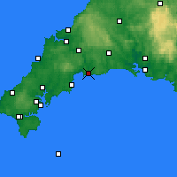 Nearby Forecast Locations - Fowey - Map