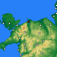 Nearby Forecast Locations - Conwy - Map