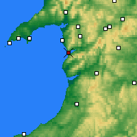 Nearby Forecast Locations - Barmouth - Map