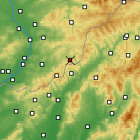 Nearby Forecast Locations - Štítná nad Vláří-Popov - Map