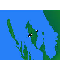 Nearby Forecast Locations - Little Lagoon - Map