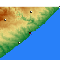 Nearby Forecast Locations - Cintsa Bay - Map