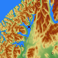 Nearby Forecast Locations - Lake Te Anau - Map