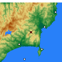 Nearby Forecast Locations - L.Waikaremoana - Map