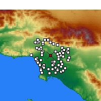 Nearby Forecast Locations - Downtown Los Angeles - Map
