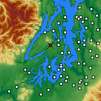 Nearby Forecast Locations - Bremerton - Map