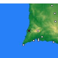 Nearby Forecast Locations - Aljezur - Map