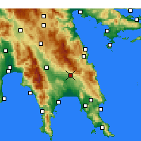 Nearby Forecast Locations - Geraki - Map
