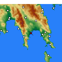 Nearby Forecast Locations - Gytheio - Map
