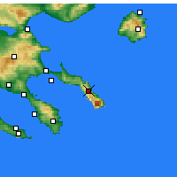 Nearby Forecast Locations - Karyes - Map