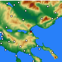 Nearby Forecast Locations - Stavros - Map
