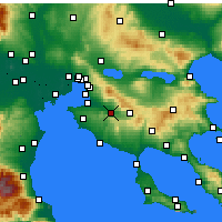 Nearby Forecast Locations - Vasilika - Map
