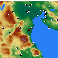 Nearby Forecast Locations - Katerini - Map