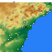 Nearby Forecast Locations - Elche - Map