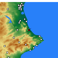 Nearby Forecast Locations - Gandia - Map