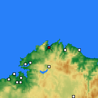 Nearby Forecast Locations - Ortigueira - Map