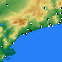 Nearby Forecast Locations - Tarragona - Map