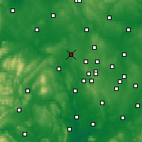 Nearby Forecast Locations - Telford - Map