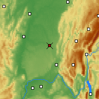 Nearby Forecast Locations - Bourg-en-Bresse - Map