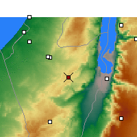 Nearby Forecast Locations - Dimona - Map