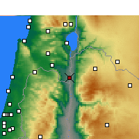 Nearby Forecast Locations - Kfar Ruppin - Map
